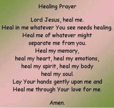 #Healing #Prayer