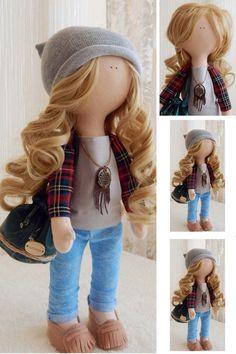 Teen doll Handmade doll Fabric doll Tilda by AnnKirillartPlace