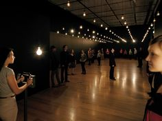 Pulse Room features an incandescent light bulb hooked up to a voltage controller and heart-rate sensor; visitors who hold on tight will see the bulb flash to the beat of their hearts.