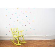 Happy Konfetti Sticker für die Wand