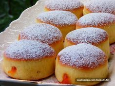 Brze krofne iz rerne: Narastu ogromne, bez prženja u dubokom ulju! Bread Recipes, Baking Recipes, Czech Desserts, Appetizer Recipes, Dessert Recipes, Donuts, Albanian Recipes, Vegan Potato Salads, Macedonian Food