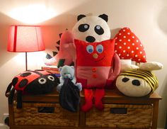 Stuffed toys and creative cushions. £13.00