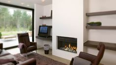 Are you looking for luxury wall fires for your home? At Modus fireplaces we have a huge collection of hole in the wall gas fires and wood fires. Inset Fireplace, Build A Fireplace, Brick Fireplace Makeover, Fireplace Wall, Fireplace Surrounds, Fireplace Design, Fireplace Ideas, Fireplace Update, Contemporary Fireplace Screens