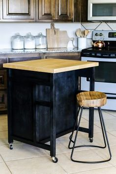 DIY Rolling Kitchen Island | Diy Kitchen Island, Rolling Kitchen Island And  Kitchens