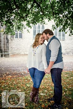 Forehead to forehead engagement picture in Adare, Ireland by Amanda May Photos