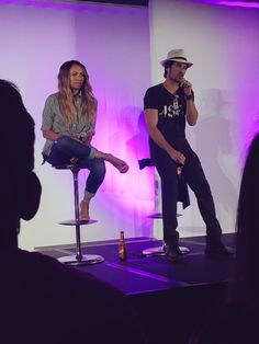 Kat Graham and Ian Somerhalder at Day 2 at Bloody Night Con 6 in Barcelona,  Spain (05/22/16)