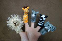 Wild Animal Zoo Safari Finger Puppets - Christmas Gift - Kids Toy - Holiday Gift - Stocking Stuffer on Etsy, $20.00