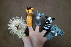 Wild Animal Zoo Safari Finger Puppets - Christmas Gift - Kids Toy - Holiday Gift - Stocking Stuffer on Etsy, $20.00