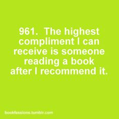 Bookfession 961. When your recommended book has been acknowledged.