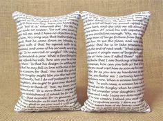 Pride and Prejudice Block Text Pillows