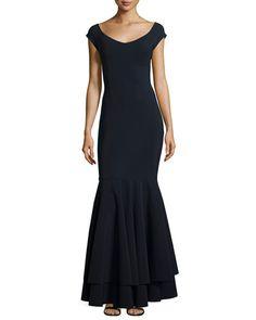 76c034e6217 Jill Jill Stuart Long-Sleeve Waist-Tie Georgette Gown Petite Long Dresses