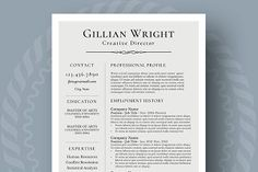 Professional Resume Template for Word, Page Resume + Cover Letter + Reference Page Student Resume Template, Modern Resume Template, Creative Resume Templates, Cv Template, Templates Free, Resume Skills, Resume Tips, Resume Examples, Resume Ideas