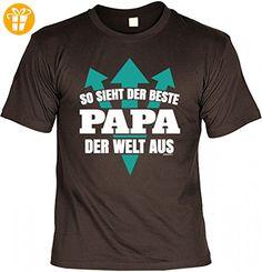 T-Shirt Vater - So sieht der beste Papa der Welt aus - Geschenk Idee Humor zum Vatertag oder Geburtstag - braun, Größe:XXL (*Partner-Link)