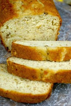 Cream Cheese Banana Bread - Butter Your Biscuit Banana Bread Cream Cheese, Make Banana Bread, Banana Bread Recipes, Bread Spread Recipe, Nut Bread Recipe, Muffin Bread, Bread N Butter, Dessert Bread, Breakfast Recipes