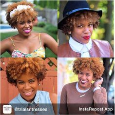 This natural sista rocks her color in various styles
