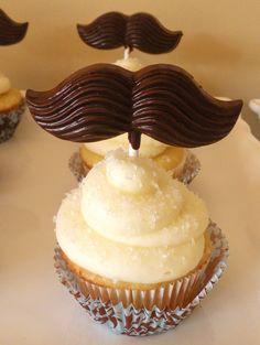 mustache cupcake