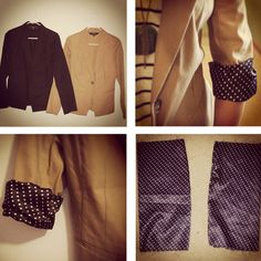 Add a fun patterned liner to an old blazer or jacket to give it new life! Super simple.
