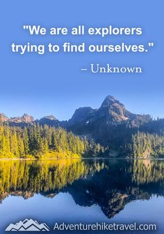 """""""We are all explores trying to find ourselves."""" #hiking #quotes #adventurequotes #inspirationalquotes #hike #hikingquotes Hiking Quotes, Travel Quotes, Franklin Falls, Winter Hiking, Get Outdoors, Adventure Quotes, Round Trip, Mountain Landscape, Wonders Of The World"""