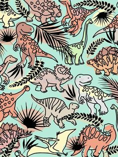 Cartoon Dinosaur pattern Also buy this artwork on apparel phone cases home decor and more. Cartoon Dinosaur, Cute Dinosaur, Dinosaur Background, Dinosaur Light, Dinosaur Wallpaper, Dinosaur Pictures, Dinosaur Pattern, Photo Wall Collage, Pretty Wallpapers