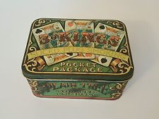 Antique Vintage -  Plain Tree 3 o Kings Sliced Plug Smoking Pocket Tobacco Tin