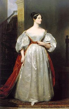 1836 Ada Lovelace in court dress by Margaret Carpenter (UK Government Art Collection - Prime Minister's residence 10 Downing Street, London)    friend to Charles Dicken