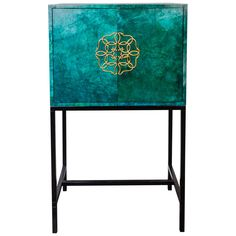 1960s French Parchment Cabinet | From a unique collection of antique and modern cabinets at http://www.1stdibs.com/furniture/storage-case-pieces/cabinets/