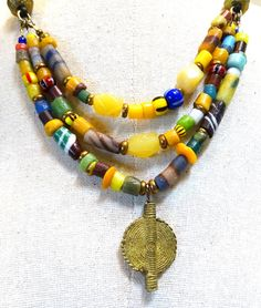 I love African trade beads, they are handmade, unique and beautiful and the history is so intriguing.  Here Ive combined handmade African trade beads