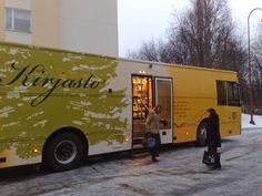 Bookmobile in Kajaani, Finland.