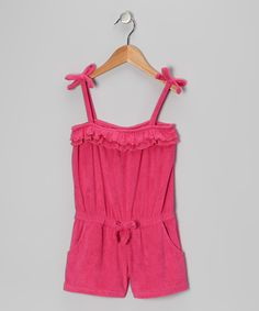 Take a look at this Pink Platinum & iXtreme Fuchsia Ruffle Cover-Up - Girls on zulily today!