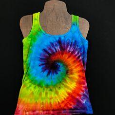 76040e7cb38323 Women s Small Tie Dye Racerback Tank Top • Rainbow Spiral Design –  DetroitTieDyeCo. Vacation List