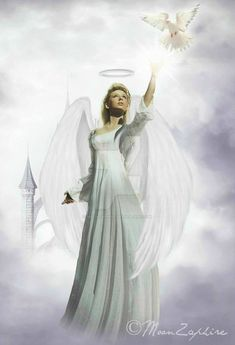 Peace Of Mind by MoonZaphire Angel Images, Angel Pictures, Angels Among Us, Angels And Demons, Angel Artwork, Angel Readings, Angel Wallpaper, I Believe In Angels, My Guardian Angel