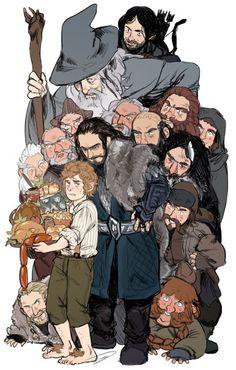The Hobbit - Bilbo, dwarves, and Gandalf fan art Jrr Tolkien, Aragorn, Gandalf, Hobbit Art, The Hobbit, Hobbit Bilbo, Hobbit Dwarves, Narnia, Fanart