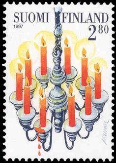 Joulupostimerkki 1997 2/3 - Kynttelikkö