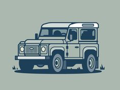 Land Rover designed by Scott Tusk. Connect with them on Dribbble; the global community for designers and creative professionals. Defender 90, Land Rover Defender, Range Rover Off Road, Jute, Isometric Drawing, Mercedes G Class, Landrover, 4x4, Industrial Design Sketch
