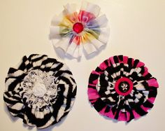 Colorblast Fabric Hair Clips by Meggie K by anniekscreations, $4.00