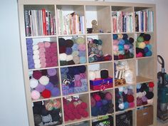 I'm well on my way to this much yarn.  Especially after this weekend.  I like this see-it-all right there plan.