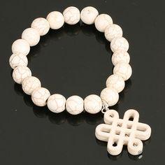 Stretch Infinity Knot Braclet. www.shazbamdecor.com Stretches, Knots, Infinity, Lady, Bracelets, Jewelry, Bangles, Jewellery Making, Jewels