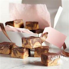 Chocolate Peanut Butter Swirled #Fudge from Eagle Brand®