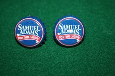 Handcrafted Cuff Links - Sam Adams Boston Lager Beer Cap with 24 ct Gold Plated Posts by Witmer Enterprises, $15.00 at witmerenterprises.com and also @Etsy