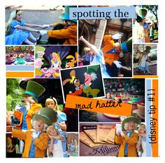 """""""{ disney tip #1 } is the mad hatter at disneyland?"""" by livingin-disneyland ❤ liked on Polyvore featuring art"""