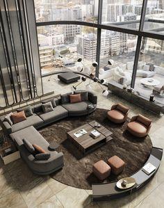 Home Room Design, Dream Home Design, Modern House Design, Home Interior Design, Living Room Designs, Living Room Decor, Luxury Interior, Luxury Homes Dream Houses, Luxury Apartments