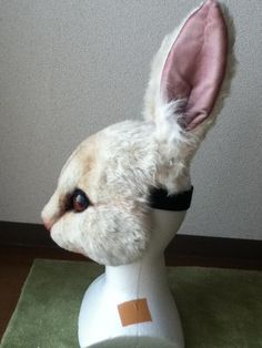 Cosplay Outfits, Cosplay Costumes, Fursuit Tutorial, Bunny Costume, Wolf Costume, Cardboard Mask, Bunny Mask, Rabbit Art, Animaux