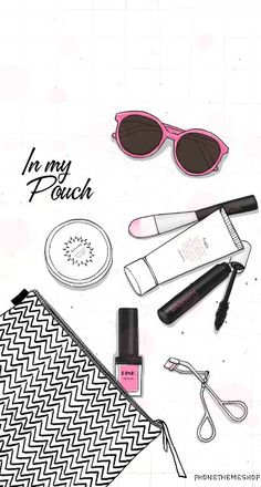 """More illustrations LINE BOTWIN """"girly illustrations"""" #chic #fashion #girly #illustration Make up"""