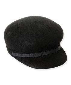 bff6c876abb Take a look at this ADORA Black Ribbon-Trim Paperboy Wool Hat on zulily  today
