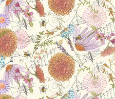 Botanical Sketchbook fabric by jennifergeldard on Spoonflower - custom fabric