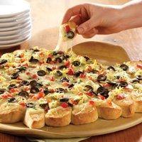 Antipasti Pull-Apart Pizza. Pampered Chef recipe.