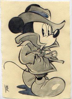 Xavi (Xavier Vives Mateu) - Original drawing - Mickey Mystery - W. Minnie Mouse Drawing, Mickey Mouse Drawings, Mickey Mouse Pictures, Disney Drawings Sketches, Mickey Mouse Wallpaper, Cute Disney Drawings, Mickey Mouse Cartoon, Mickey Mouse And Friends, Cartoon Drawings