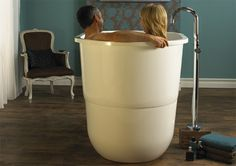 Sorrento Bathtub        Modern bathtub based on the traditional Japanese ofuro, designed for full immersion