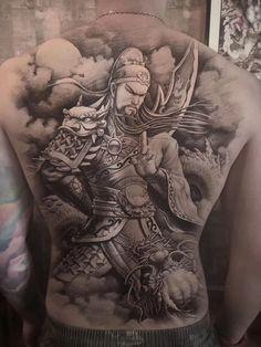 Asian Tattoo Girl, Asian Tattoos, Black Tattoos, Girl Tattoos, Japanese Snake Tattoo, Japanese Tattoo Symbols, Angel Devil Tattoo, Angel And Devil, Back Tattoos For Guys