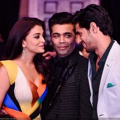 Aishwarya Sidharth And Karan At #HelloHallOfAwards  #aishwaryarai #aishwaryaraibachchan #sidharthmalhotra #karanjohar #Bollywood by #BollywoodScope
